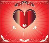Постер, плакат: Растровые иллюстрации с красивой сердце