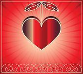 Постер, плакат: векторные сердца