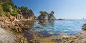 Spain Mediterranean Sea, Bay In Lloret De Mar. Beautiful Seaside Bay In Costa Brava. Amazing Seascap poster