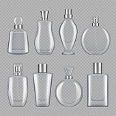 Perfumes For Male And Female. Various Bottles Of Perfume. Bottle Glass Container For Perfume, Variou poster