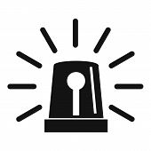 Flashing Emergency Light Icon. Simple Illustration Of Flashing Emergency Light Icon For Web poster