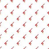 Red Paintball Gun Pattern. Cartoon Illustration Of Red Paintball Gun Pattern For Web poster