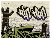 persona de graffiti pared y hip hop