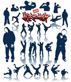 las personas de la danza, breakdance vector hip hop graffiti