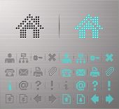 Perforated Internet and Interface buttons