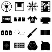 Print Items Icons Set. Simple Illustration Of 16 Print Items Icons For Web poster