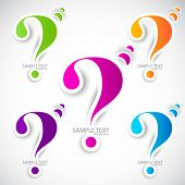 foto of question-mark  - Colorful paper question mark for speech - JPG