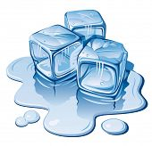 picture of ice-cubes  - Stylized ice cubes on white background - JPG