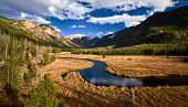 East Inlet Creek in Rocky Mountain National Park landscape, Colorado, USA.  poster