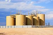 Crude Oil Storage Tanks in Central Colorado, USA