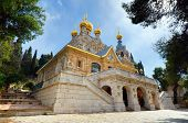 picture of church mary magdalene  - The Church of Mary Magdalene in Jerusalem - JPG