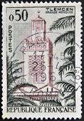 Постер, плакат: Франция около 1960: Показывает марку напечатанную во Франции Великая мечеть Тлемсен около 1960