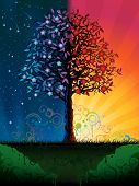 foto of night-blooming  - Day and night tree  - JPG