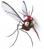 stock photo of malaria parasite  - Fun mosquito - JPG