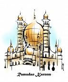pic of jawi  - Vector Illustration of Mosque - JPG