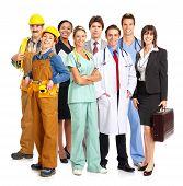 image of people work  - Business people builders nurses doctors architect - JPG