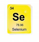 Selenium chemical element with atomic number, symbol and weight