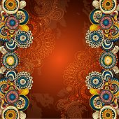 picture of psychedelic  - Vector abstract floral decorative background - JPG