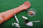 pic of drug addict  - Drugs addict activities and some used tools - JPG
