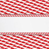 image of candy cane border  - Background made of candy canes with place for your text - JPG