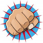 pic of punch  - Vintage Pop Art Punching Fist - JPG