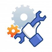 picture of reconstruction  - Maintenance icon with hand wrench - JPG