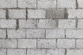 picture of aeration  - Gray wall made of aerated concrete blocks background texture - JPG