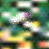 stock photo of std  - Vector Summer Background place for your text fully editable eps 10 file with gradient mesh and transparency effects Cooper Black Std font used in example - JPG