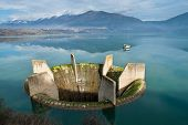 foto of macedonia  - View of Lake Ohrid the deepest lake of the Balkans in Republic of Macedonia  - JPG