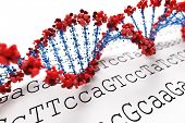 stock photo of gene  - DNA background - JPG
