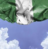 picture of nigeria  - Nigeria waving flag on a beautiful day - JPG