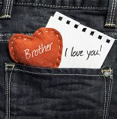 pic of heartwarming  - Brother I love you - JPG
