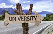 picture of convocation  - University wooden sign with a street background - JPG