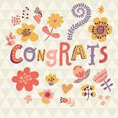 stock photo of congrats  - Congrats - JPG