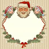 picture of gnome  - The head of Santa Claus and gnome - JPG