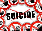 foto of suicide  - illustration of no suicide abstract concept background - JPG