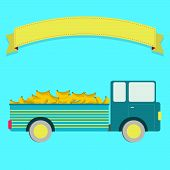 foto of truck farm  - Truck carrying bananas - JPG