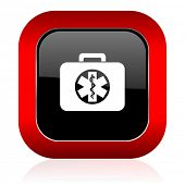 image of accident emergency  - rescue kit icon emergency sign  - JPG