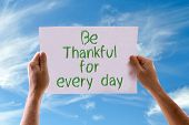 picture of humility  - Be Thankful for Every Day card with sky background - JPG