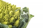 picture of romanesco  - Fresh and raw romanesco broccoli vegetable isolated on white background - JPG