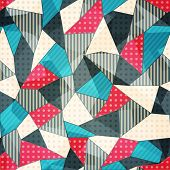 picture of scrappy  - fabric pieces seamless pattern  - JPG