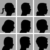 pic of cameos  - Set of Cameo Silhouettes for Print or Web - JPG