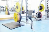 pic of barbell  - Barbel weights in gym - JPG