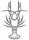 stock photo of craw  - Silhouette crayfish - JPG