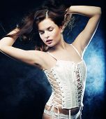 image of striptease  - Fashion shoot of young sexy striptease dancer - JPG