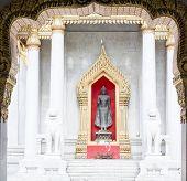 image of buddhist  - Wat Benchamabophit Dusitvanaram is a Buddhist temple  - JPG