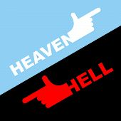 picture of heavenly  - Direction of hell and heaven - JPG