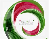 pic of slogan  - Vector green swirl line abstract background - JPG