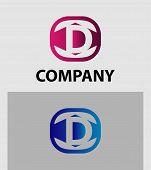 stock photo of letter d  - Vector sign letter D logo design template - JPG