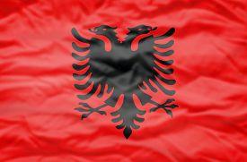 stock photo of albania  - Albania flag - JPG